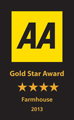 AA Gold Star Award 4 Star Farmhouse 2013 Logo