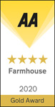 AA Gold Star Award 4 Star Farmhouse 2020 Logo